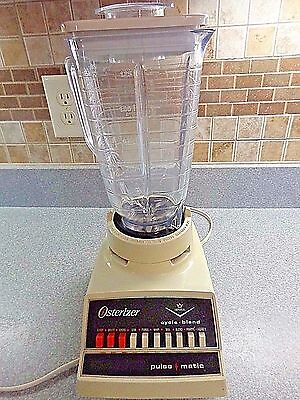 Vintage 1983 Osterizer Blender Cycle Blend Pulse Matic 890-16 Imperial 10 Speed
