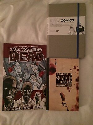 The Walking Dead Books + Comic Drawing Book