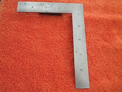 "VINTAGE STARRETT No.21  6"" x 4"" Stainless Steel Precision Machinists Square. USA"