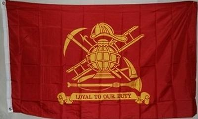 3x5 Fire Department Loyal to Out Duty Flag 3'x5' Banner grommets 100D Polyester