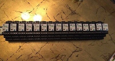 SCHNEIDER ELECTRIC  Telemecanique RXZE2S114M RELAY SOCKET And Relay Lot of 15