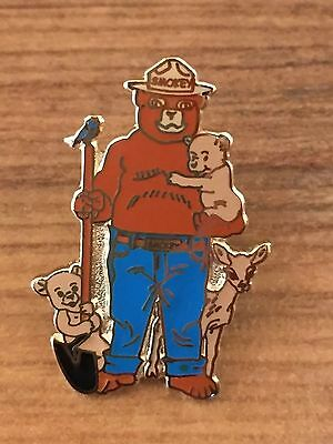 Smokey The Bear And Friends Cubs Forest Fire Service Lapel Hat Pin Tie Tac