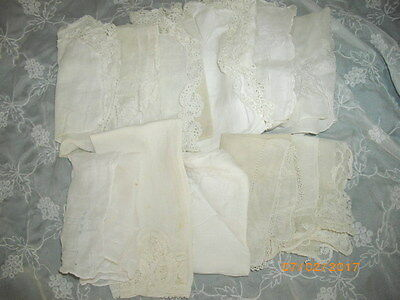 Lot of 11 Vintage Hankies All White