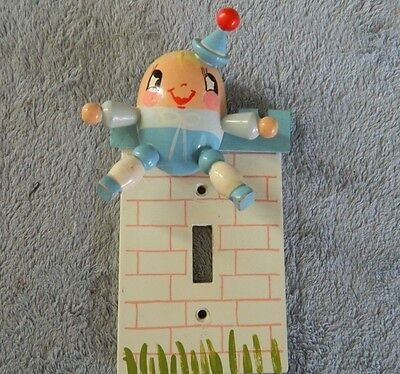 Irmi Single Switch Light Cover Plate, Painted Wood Humpty-Dumpty Nursery Rhymes