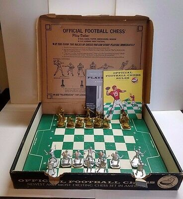 Vtg 1960s Football Chess Players Plastic Figures John McKay Plays and Formations