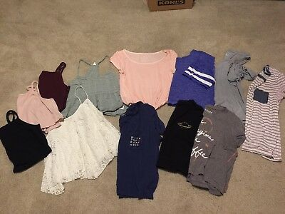 Lot 12 Juniors Womens Tops Shirts T American Eagle Aeropostale Forever 21 Euc Md