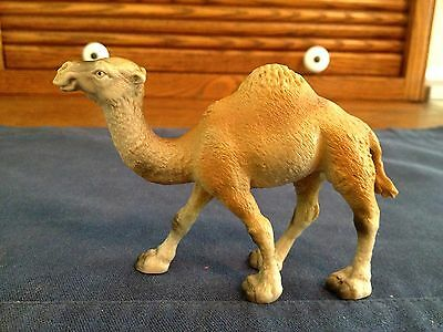 """Schleich Germany 1991 One Hump Camel, Plastic, 3"""" Tall, 4-1/2"""" Long"""