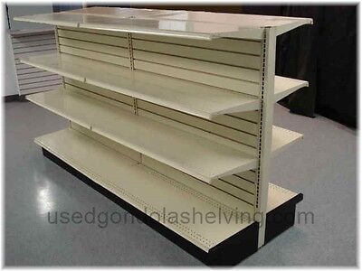 Used Gondola Shelving (used) (Double Sided) 4' sections high shelving