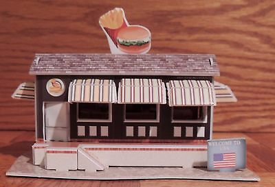 FAST FOOD AMERICAN STYLE RESTAURANT BUILDING KIT 1:64 Scale DIORAMA