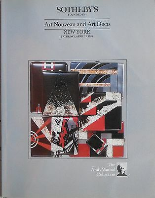 Rare SOTHEBY'S NEW YORK / ANDY WARHOL COLLECTION / April 23, 1988 / 377 Lots