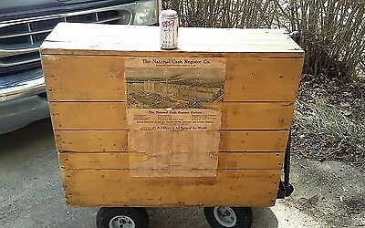 National Cash Register Shipping Crate With Graphics For 5 Series 542