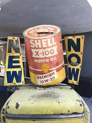 Rare, Shell Oil Can, Gas Pump Topper, Texaco, Shell, Mobil Oil, Flying A