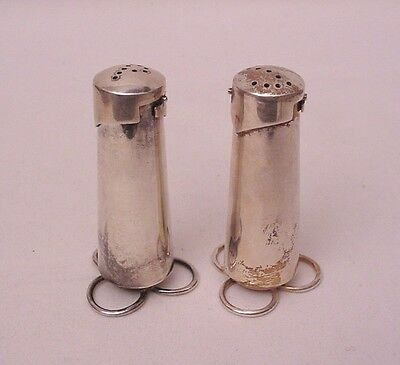 Vintage Victoria Cony Taxco Mexico Heavy Sterling Salt & Pepper Shakers Unusual