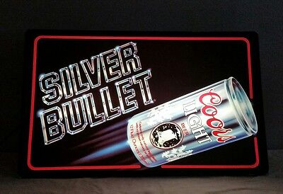 Coors Light Silver Bullet Lighted Sign 26.5x15.5