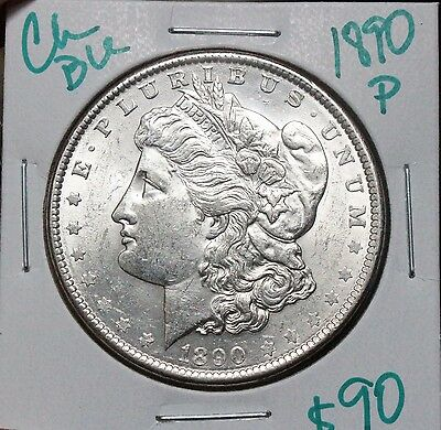 1890 $1 Morgan Silver Dollar BU++ BETTER DATE NICE WHITE CARTWHEEL LUSTER!
