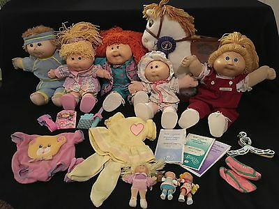 Huge Lot Cabbage Patch Kids Dolls Horse Figurines Stamps Clothing Accessories