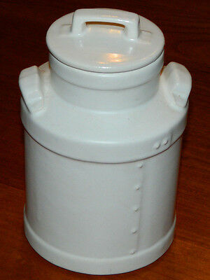 "Vintage 331 McCoy Pottery USA White Milk Can Canister. 6"" Tall"