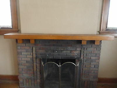 Antique Craftsman Style Fireplace Mantle - C. 1915 Oak Architectural Salvage