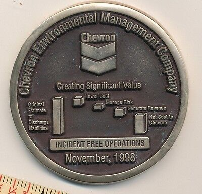Chevron Oil Paperweight