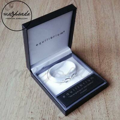 Equilibrium Inspirational Eternity Silver Plated Bangle – 3 to choose from