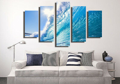 Huge Abstract Wall Decro Art Oil Painting on Canvas NO FRAME Surfing Scenery 99