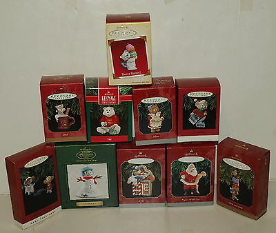 Hallmark Keepsake Ornament Lot of 10 from 1991-2005,MINT,NEW IN BOX,ADORABLE!