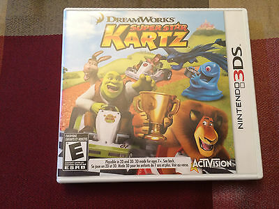 DreamWorks Super Star Kartz - Nintendo 3DS - Game and Case! - Great Cond!