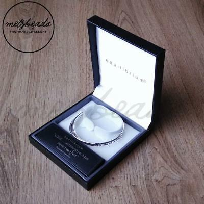 Equilibrium Inspirational Message Silver Plated Bangle Gift Boxed – 3 message...