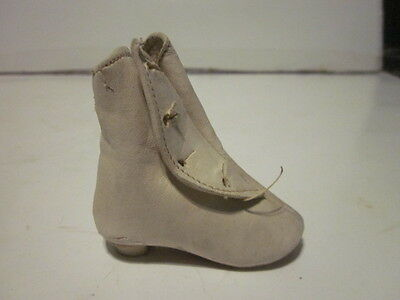 Vintage Miniature Doll Leather Victorian Style Shoe Single