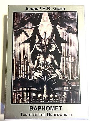 New H.R. Giger Akron Baphomet Tarot Of The Underworld 23 Cards Deck Book English
