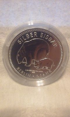 2017 German Polar Bear .999 Silver Coin on Card. Low mintage of 10,000
