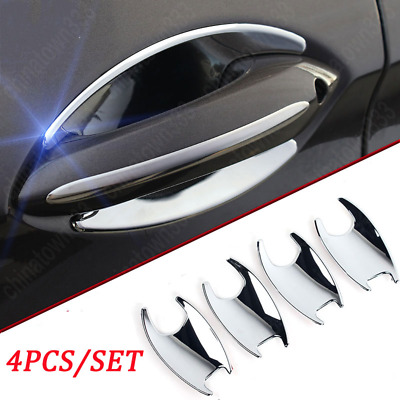 Chrome Side Door Handle Bowl Cover ABS Trim 4PCS For BMW 7 Series F01 2010-2015
