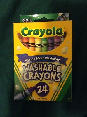 Crayola Washable Crayons  24 Pack BRAND NEW!!!