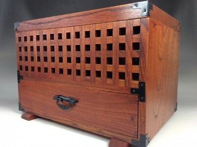 Japanese vintage wooden box  small furniture accessory case used
