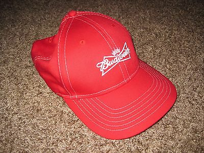 EUC Budweiser Men's Hat, One Size Fits All, Red/White, Adjustable Back