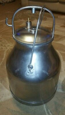 Vintage DeLaval Stainless Steel Milk Cream Can Bucket Pail With Lid Dairy Farm