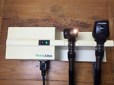 Welch Allyn 767 Transformer  Otoscope 25020A Ophthalmoscope 11710 Diagnostic Set