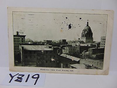 Vintage Posted Postcard Stamp 1914 Picture Birds Eye View Fort Wayne Indiana In.