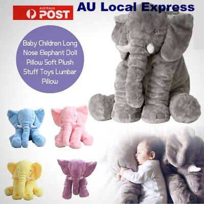 Soft Plush Stuff Toys Baby Children Gift Long Nose Elephant Doll Lumbar Pillow F