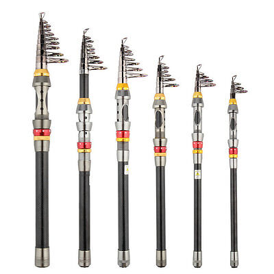 Super Light Carbon Telescopic Pole Saltwater Casting Sea Fishing Rods XF