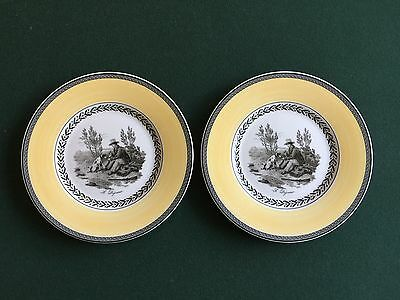 """2 Villeroy & Boch AUDUN CHASSE 8 1/2"""" Salad Plates - French Country"""
