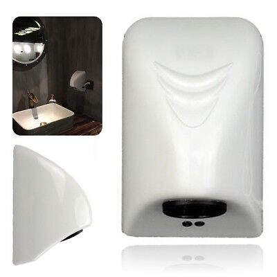 Hand Dryer Wall Mounted Electric Automatic Fast Warm Air Drier Toilet White