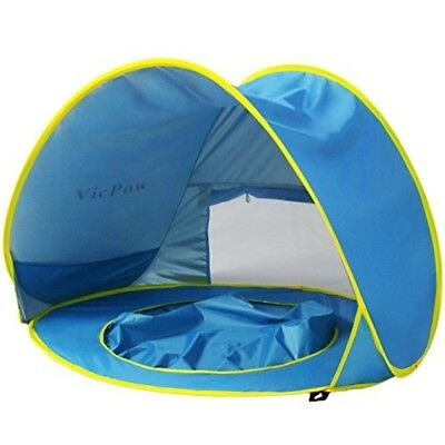 Pop Up Baby Beach Tent,VicPow Portable Infant Sun Shelter Play Beach Tent with K