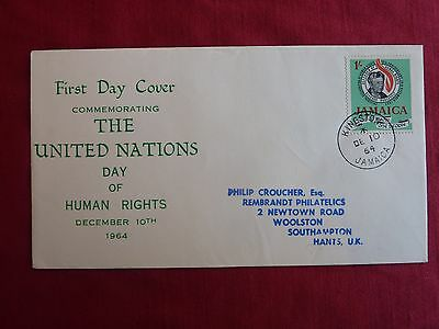 Jamaica First Day Cover - United Nations Day of Human Rights 10 December 1964