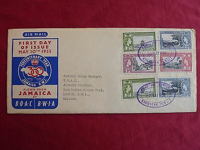 Jamaica First Day Cover - Tercentenary Year 1655 - 1955 - Stamps