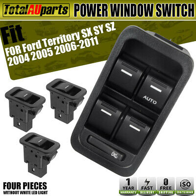 Master+3 Single Power Window Switch for Ford Territory SX SY TX Non-illuminated