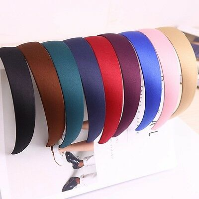 25mm Fabric Alice Headband Ladies Wide Hair Head Band 9 Colours Satin