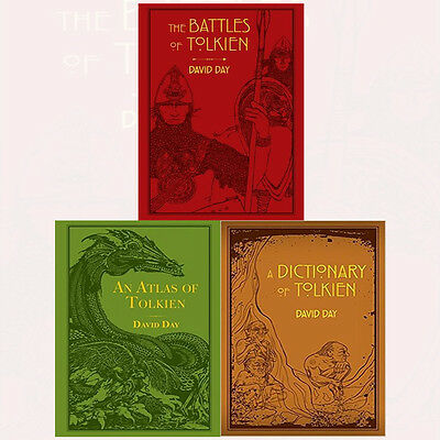 David Day Collection Battles of Tolkien 3 Books Set Pack An Atlas of Tolkien NEW