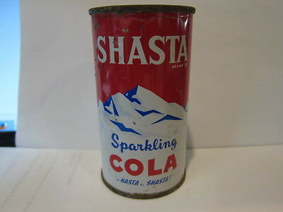 Vintage Shasta COLA Sparkling Metal Soda Pop Can Empty Opened