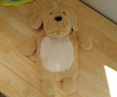 Primark PUPPY DOG SOFT PLUSH HOT WATER BOTTLE COVER + HOT WATER BOTTLE